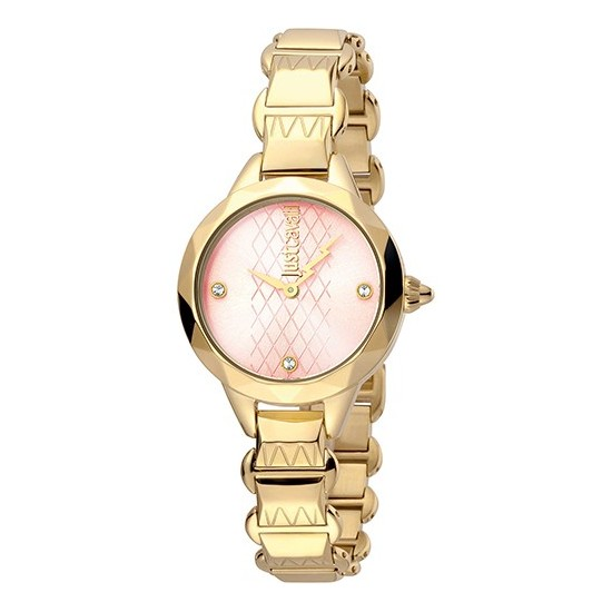 Just Cavalli Women's Watch Only Time Rock Collection Gold/Pink