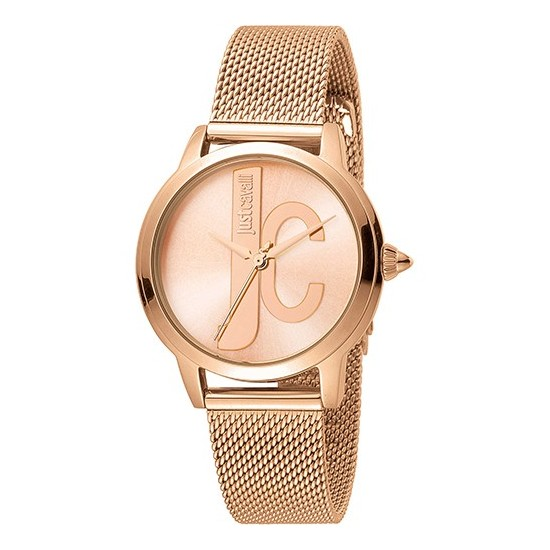 Just Cavalli Women's Watch Only Time Logo Collection Rose/Rose