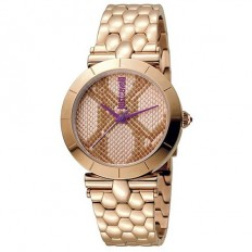Just Cavalli Women's Watch Only Time Animals Collection Rose Fantasy