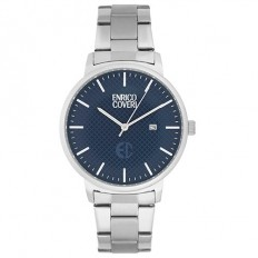 Enrico Coveri Watch Men's Only Time Blue/Silver