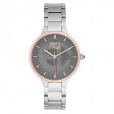 Enrico Coveri Watch Women's Only Time Silver/Rosé
