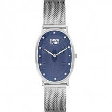 Enrico Coveri Watch Women's Only Time Blue/Silver