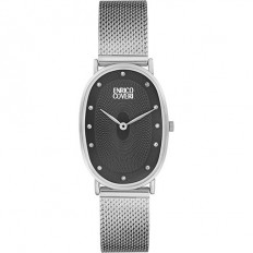 Enrico Coveri Watch Women's Only Time Black/Silver