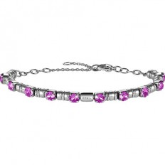 Breil Women Bracelet Rolling Diamond Collection Fuchsia