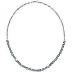 Breil Collana Donna Collezione Rolling Diamond Azzurro