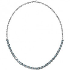 Breil Women Necklace Rolling Diamond Collection Light Blue