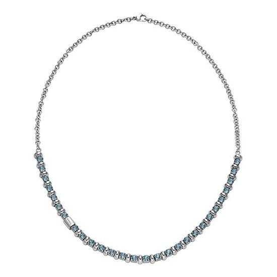 Breil Women Necklace Rolling Diamond Collection Light Blue