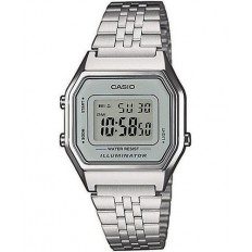 Casio Women's Digital Watch Vintage Silver