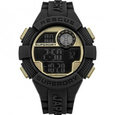 Superdry Watch Men Digital Radar Rescue Collection Black/Gold