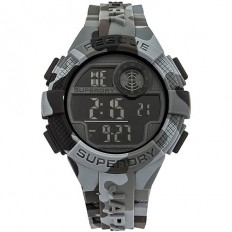 Superdry Watch Men Digital Radar Rescue Collection Grey Camouflage