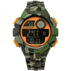 Superdry Watch Men Digital Radar Rescue Collection Green Camouflage