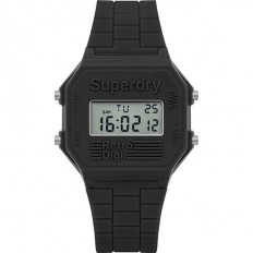Superdry Watch Men Digital Retro Digi Collection Grey