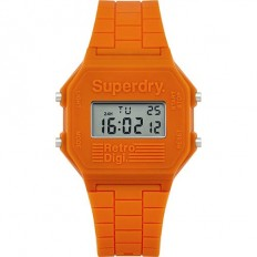 Superdry Watch Men Digital Retro Digi Collection Orange