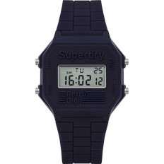 Superdry Watch Men Digital Retro Digi Collection Blue