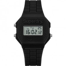 Superdry Watch Men Digital Retro Digi Collection Black