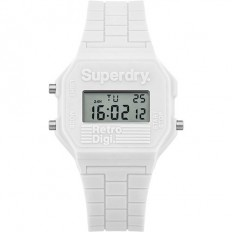 Superdry Watch Men Digital Retro Digi Collection White