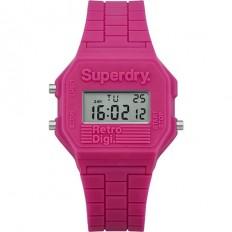 Superdry Orologio Unisex Digitale Collezione Retro Digi Pink