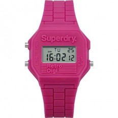 Superdry Watch Men Digital Retro Digi Collection Pink