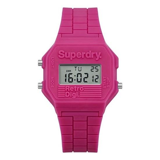 Superdry Watch Men Digital Retro Digi Collection Pink
