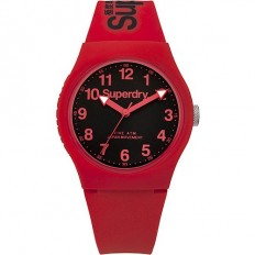 Superdry Watch Unisex Only Time Urban Collection Red