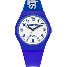 Superdry Watch Unisex Only Time Urban Collection Blue/White