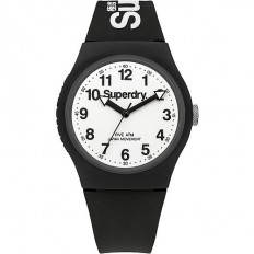 Superdry Watch Unisex Only Time Urban Collection Black/White