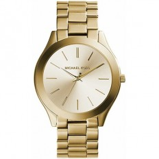 Michael Kors Unisex Watch Only Time Slim Runway Collection Gold