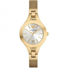 Armani Women's Watch Only Time Chiara Collection Gold