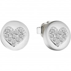 Guess Earings Woman Heart Devotion Collection