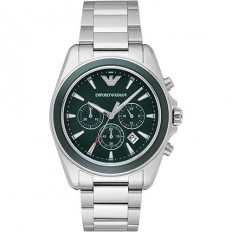 Armani Men's Watch Chronograph Sigma Deep Green