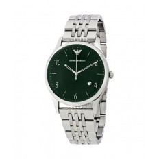 Armani Men's Watch Only Time Green