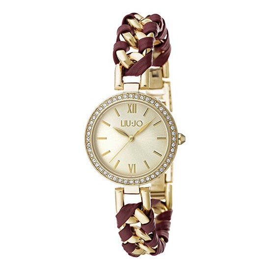Liu Jo Women Watch Only Time Naira Collection Gold/Bordeaux