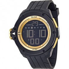 Sector Watch Unisex Digital Ex-03 Collection Black/Gold