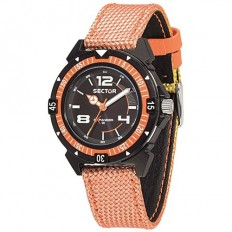 Sector Men's Watch Only Time Expander Collection Orange