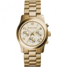 Michael Kors Unisex Watch Chronograph Runway Collection Gold