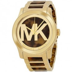 Michael Kors Unisex Watch Only Time Runway Collection Gold