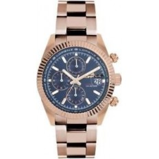 Lorenz Watch Men's Chronograph Ginevra Collection Rosegold/Blue