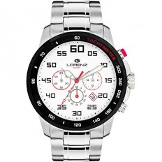 Lorenz Watch Men's Chronograph Sport Collection Silver/White