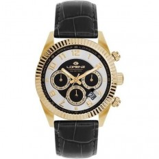 Lorenz Watch Unisex's Chronograph Black/Gold
