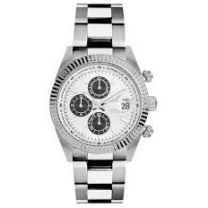 Lorenz Watch Men's Chronograph Ginevra Collection Silver/Black