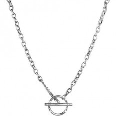 Liu Jo Women's Necklace Silver Brass Circle