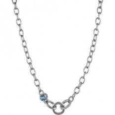 Liu Jo Women's Necklace Silver Brass Blue