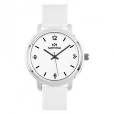 Superga Watch Woman Only Time White Fabric