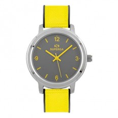 Superga Orologio Donna Solo Tempo Yellow Fabric