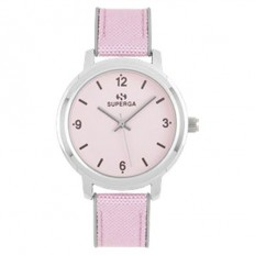 Superga Watch Woman Only Time Pink Fabric