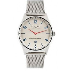 Alviero Martini Men's Watch Only Time ALV Collection Silver/Beige