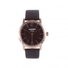 Hammer Watch Only Time Portofino Collection Brown Leather