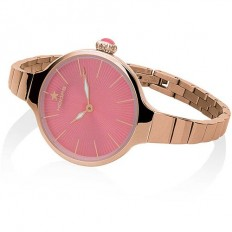 Hoops Women's Watch Only Time Nouveau Cherie Collection Coral Red