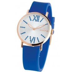 Hoops Women's Watch Only Time Folie Gold Collection Blue