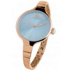Hoops Women's Watch Only Time Nouveau Cherie Collection Light Blue